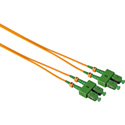 Camplex SMD9-ASC-ASC-005 APC SC to APC SC Singlemode Duplex Fiber Optic Patch Cable - Yellow - 5 Meter