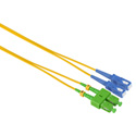 Camplex SMD9-ASC-SC-001  APC SC to UPC SC Singlemode Duplex Fiber Optic Adapter Cable  - Yellow - 1 Meter