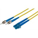 22- INCH 9u/125u Fiber Optic Patch Cable Singlemode Duplex ST to LC - Yellow