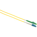 Camplex SMS9-ALC-LC-001 APC LC to UPC LC Singlemode Simplex Fiber Optic Adapter Cable  - Yellow - 1 Meter