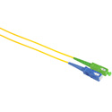 Camplex SMS9-ASC-SC-003 APC SC to UPC SC Singlemode Simplex Fiber Optic Adapter Cable  - Yellow - 3 Meter