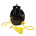 Stage Ninja STX-30-3-14 30 ft. Retractable Power Reel With 3-Tap Head and Circuit Breaker (14/3 AWG)