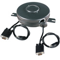 Stage Ninja VGA-15-A (audio) 15 ft. Retractable VGA Cable Reel with audio