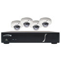 Speco ZIPKIT4D1 4-CH NVR 1080p/120FPS/1TB w/4 Outdoor IR Dome 3.7mm Lens