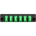 Cleerline SSF-SC06-SM-OS2-APC Plate (Green) SM/APC (OS2) Duplex SC 6-Fiber Zirconia Ceramic Sleeve
