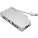 Startech CDPVGDVHDMDP Aluminum Travel A/V Adapter: 4-in-1 USB-C to VGA DVI HDMI or mDP - 4K