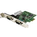StarTech PEX2S1050 2-Port PCIe Serial Card w/ 16C1050 UART - RS232