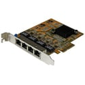 StarTech ST1000SPEX43 Quad-Port PCIe Gigabit Network Interface Card
