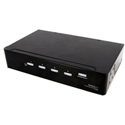 StarTech ST124DVIA 4 Port DVI Video Splitter with Audio