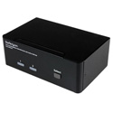StarTech SV231DPDDUA 2 Port Dual DisplayPort USB KVM Switch with Audio & USB 2.0 Hub