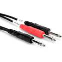 1/4-Inch TRS Male to 2 1/4-Inch Mono Male 1m Insert Cable