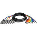 Hosa STX-802F 8-Channel Audio Snake 1/4-In TRS Male to 3-Pin XLR Female 6.6 Ft.