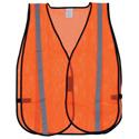 Orange Safety Vest with Reflective Striping- Extra Large