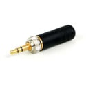 Switchcraft 35HDLBAUS 3.5MM Locking Stereo Plug - Black Handle Gold Plug