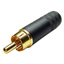 Switchcraft 3502ABAU Longbody RCA Male Black/Gold