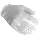 SetWear SWC-00-0M Throw Away White Cotton Gloves - Men 12 Pairs