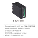 SWIT S-8U65 Battery with DC Output and USB Charging Port - Li-Ion