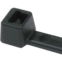Hellerman Tyton 8 Inch Black Nylon Cable Ties (18 Pounds Tensile Strength) - 100 Pack