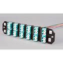 ADC-Commscope TFP-24APLQ5SB3 LC UPC - 12 Adapters/24 Fiber Ports - Blue -Left