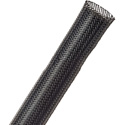 Techflex PTN0.75BK General Purpose Expandable Braided Cable Sleeving 1/2 inch to 1 1/4 inches - 250 Foot Black