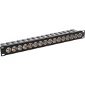 16-Port AES/EBU Impedance Transformer Patch Panel BNC Female to Rear XLR Male