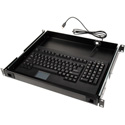 TecNec 1RU Drawer With Mini PS2 Keyboard and Touch Pad