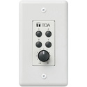 TOA Remote Panel - 4-Switches and 1-Volume Control to 9000 Chassis Terminals