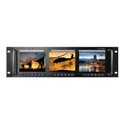 ToteVision LED-566HDMX3 Three 5.6 Inch Monitors in 3RU Rack Mount 4:3 HDMI BNC I/O 3.5 AV In NTSC/PAL 640x480 350 Nit