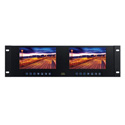 ToteVision LED-711-4K2 Dual 7 Inch 1920x1200 LCD Monitors in a Rack-Mount