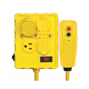 GFCI Protected Quad Outlet Box with Circuit Breaker & 6 Foot Cord (125V - 15A)