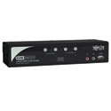 Tripp Lite B006-VUA4-K-R 4-Port KVM Switch w Audio/ 2-Port USB2.0 Hub/ Included Cables