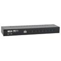 Tripp Lite B043-DUA8-SL 8-Port Rackmount DVI USB KVM Switch w/ Audio 2-Port USB Hub