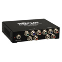 Tripp Lite B136-004 4-Port Component Video/Stereo Audio over Cat5/Cat6 Extender Splitter Box-Style Transmitter - 700 Ft