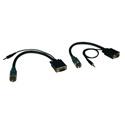 Tripp Lite EZA-VGAAM-2 Easy Pull Type-A Connectors - (M/M set of VGA with Audio)