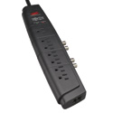 Tripp Lite HT706TSAT Home Theater Surge Protector Strip 7 Outlet RJ11 Coax 6ft C