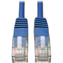 Tripp Lite N002-001-BL Cat5e 350MHz RJ45 M/M Blue Molded Patch Cable - 1 Foot