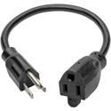 Tripp Lite P022-010 Standard Power Extension Cord 10A 18 AWG (NEMA 5-15P to NEMA 5-15R) 10 Feet