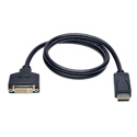 Tripp Lite P134-003 DisplayPort to DVI Cable Adapter Converter for DP-M to DVI-I-F 3 Feet