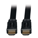 Tripp Lite P568-010-FL High Speed HDMI Flat Cable Ultra HD 4K x 2K Digital Video with Audio (M/M) Black 10 Feet