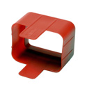 Tripp Lite PLC19RD Plug-lock Inserts keep C20 power cords solidly connected to C19 outlets RED color Package of 100