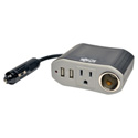Tripp Lite PV100USB 100W PowerVerter Ultra-Compact Car Inverter with Outlet 12V CLA Receptacle and 2 USB Charging Ports