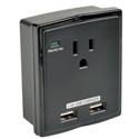 Tripp Lite SK10USB Surge 1 Outlet 120V USB Charger Tablet Smartphone Ipad Iphone