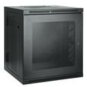 Tripp Lite 10U Low-Profile Wall-Mount Rack Enclosure Cabinet Double Hinge Removable Side Panels 22H x 24W x 22D