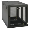 Tripp Lite 12U Heavy-Duty Low-Profile  Side-Mount Wall-Mount Rack Enclosure Cabinet Removable Side Panels 26 x 36 x 25