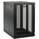 Tripp Lite 18U Heavy-Duty Low-Profile Side-Mount Wall-Mount Rack Enclosure Cabinet Removable Side Panels 37H x 36W x 25D