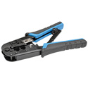 Tripp Lite T100-001 RJ11 RJ12 RJ45 Crimping Tool with Cable Stripper Cat5e Cat6