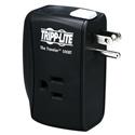 Tripp Lite TRAVELER100BT Notebook Surge Protector Wallmount Direct Plug In 2 Outlet RJ45