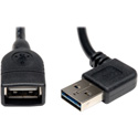 Tripp Lite UR024-18N-RA Universal Reversible USB 2.0 Hi-Speed Extension Cable ( Right/Left Angle A to A M/F) 18-Inch