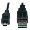 Tripp Lite UR030-003 USB 2.0 Reversible A Male to 5-Pin Mini B Male - 3 ft.