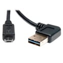 Tripp Lite UR050-003-RA USB 2.0 RA Reversible A Male to Micro B Male - 3 ft.